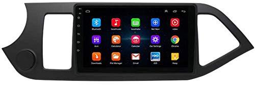SSeir Navegación de automóviles Estéreo 9 Pulgadas Android 9.0 Unidad Principal de 2DIN para KIA PICANTO 2011-2016, navegación GPS/Bluetooth/FM/RDS/Control de la Rueda del Volante/Cámara Trasera
