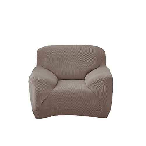 Beydodo Funda Sofa Elasticas,Funda Poliester Sofa Exterior Color Sólido Forro Polar Caqui,Sofá Funda 3 Plazas(190-230CM)