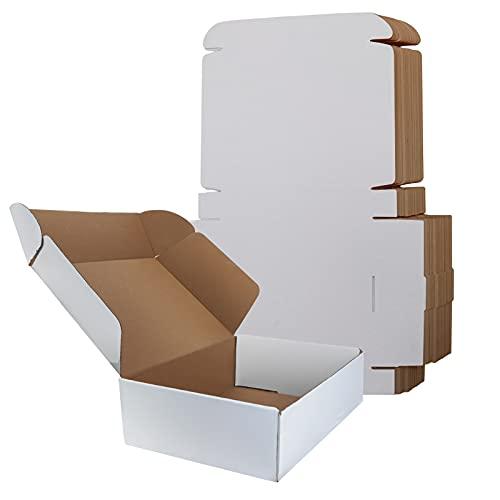 RLAVBL Shipping Boxes 11x8x2 White Corrugated Cardvboard Box, 25 Pack