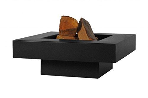 FARMCOOK Feuerschale PAN-5 schwarz lackiert in drei Größen (80x80x22 cm)