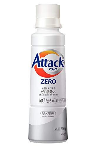 アタック ゼロ(ZERO) 洗濯洗剤(Laundry Detergent) 大サイズ 本体 610g (清潔実感! 洗うたび白さよみがえる)