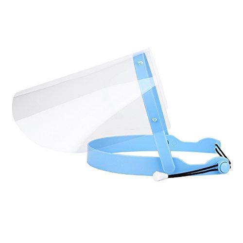 Einweg-Gesichtsschutz aus transparentem Kunststoff, einstellbare Anti-Fog-Vollmaske mit 10-teiliger Schutzfolie Abnehmbare Gesichtsschutzschilde für das Hairstyling-Kochen