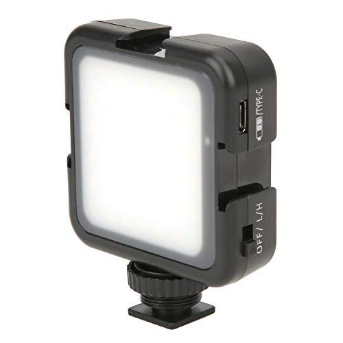 42LED Goede helderheid Hoge CRI-fotografie Invullicht voor binnen/buiten 6000K Kleurtemperatuur met Cold Shoe Mount voor DSLR-videocamera, voor macrofotografie