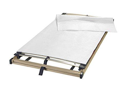 sleepling Matratzenunterlage/Matratzenschoner Made in Germany, als hochwertige Auflage aus Nadelfilz für den Lattenrost in 160 x 200 cm, weiß