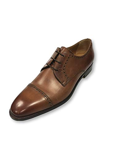 Stemar Oxfords brogue style shoes in brown - 7