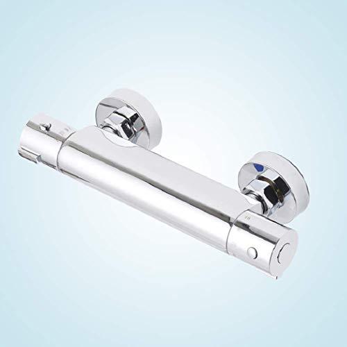 Allright Duscharmatur Brause thermostat Duschthermostat Mischbatterie mit Temperatureinstellung und Durchflusseinstellung 38 °C Sicherheitstaste Wassertemperatur 20-50 Grad