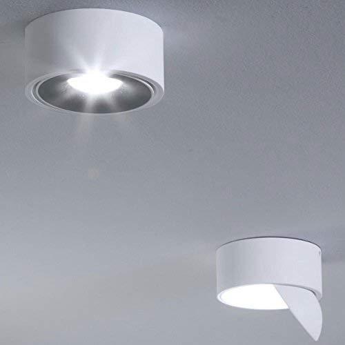 Licht-Trend Santa LED Aufbauspot schwenkbar & dimmbar 980 Lumen Weiß Deckenlampe Deckenleuchte Aufbaustrahler LED-Spot Strahler Dimmer warmweiss Flurlampe