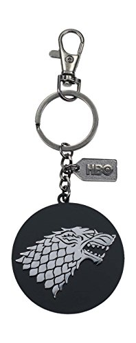 Game of Thrones SDTHBO27519 sleutelhanger met metalen logo, zilverkleurig