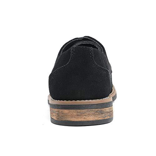 Bruno Marc Men's URBAN-08 Black Suede Leather Lace Up Oxfords Shoes – 6.5 M US