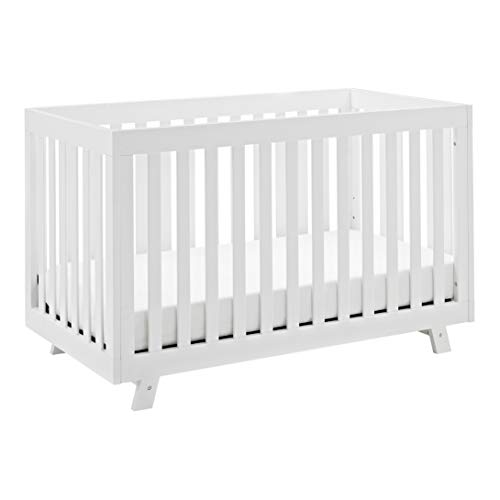 Stork Craft Beckett 3-in-1 Convertible Crib, White, Fixed Side Crib, Solid Pine and Wood Product Construction, Converts to Toddler Bed or Day Bed (Mattress Not Included), White