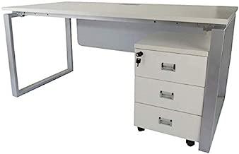 Mahmayi Carre Modern Workstation Desk, 75 x 160 x 75 cm, Oak, ME5116WH