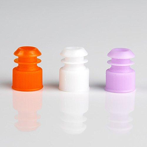 Globe Scientific 118240K Polyethylene Flange Plug Cap for Test Tubes, 13mm Size, Black (Pack of 1000)