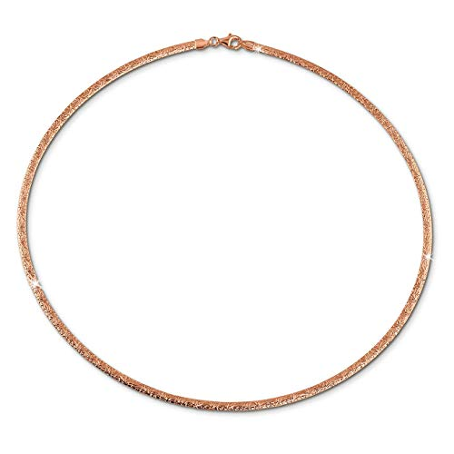 SilberDream Muster Collier silber rose 42cm Echt 925 Silber vergoldet SDK22942E
