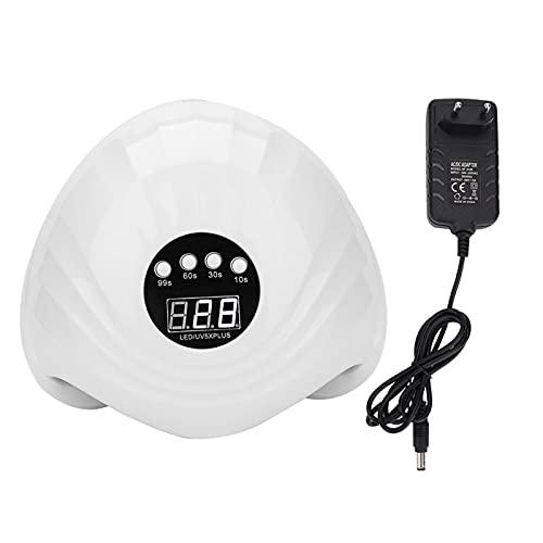 Filfeel Lámpara de Gel UV Inteligente de 108W, secador de uñas portátil con lámpara LED de curado de uñas con Cuatro configuraciones de período de Tiempo(EU Plug)
