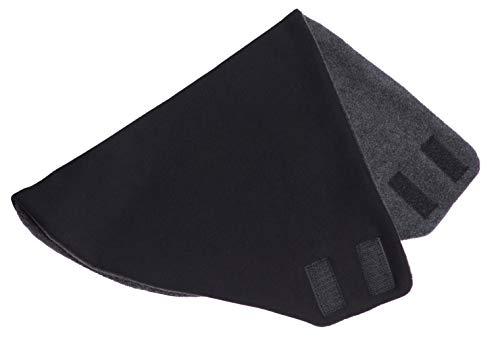 Hilltop -Polar Bandana Con Vello/Scaldacollo/Doppio Strato Con Chiusura A Velcro, Colore Bandana:Nero Uni