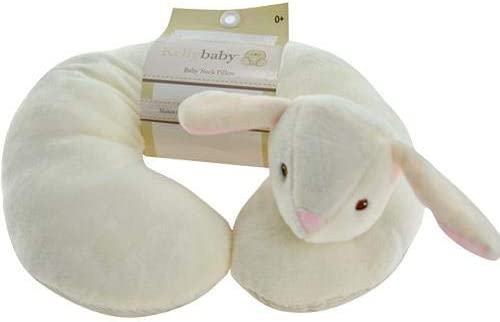 Bunny Rabbit Plush Baby Infant Soft Car Seat Stroller Neck Pillow Neck Support Neck Rest Neck Cover Neck Protector Neck Cushion