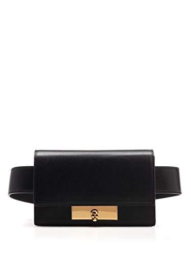 Luxury Fashion | Alexander Mcqueen Woman 6101841CW0T1000 Black Leather Belt Bag | Spring Summer 20