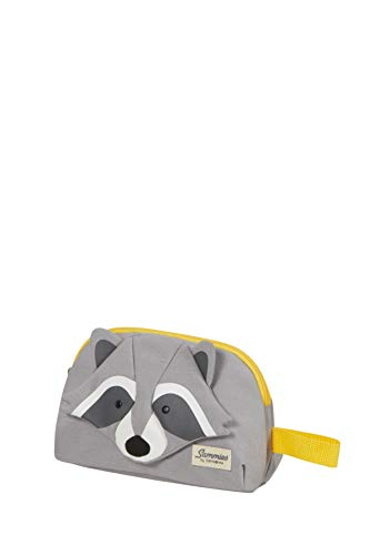 Samsonite Happy Sammies Eco - Beauty Case, 22 cm, 2.5 L, Grigio (Raccoon Remy)
