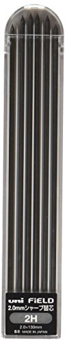 Uni Mechanical Pencil Lead, 2.0mm for Field, 2H (U202101P2H)