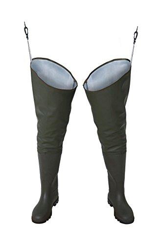 PROS/ 3Kamido Trampolieri Standard Stivali da Pesca, Waders (42 EU, Verde)
