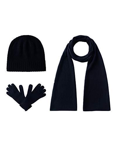 EURKEA Women's Pure Cashmere Scarf, Gloves, Beanie Hat Gift