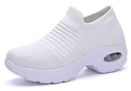 Zapatillas Deportivas de Mujer Running Comodas Ligero Zapatos Deporte Casual Transpirables Mesh...