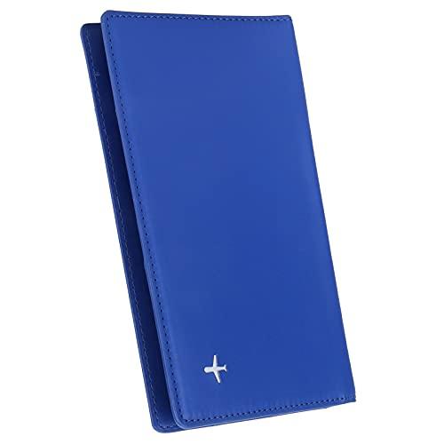 Tenedor del pasaporte, cartera del organizador del caso del bolso del organizador del bolso del caso para la cartera(blue, x-50#)
