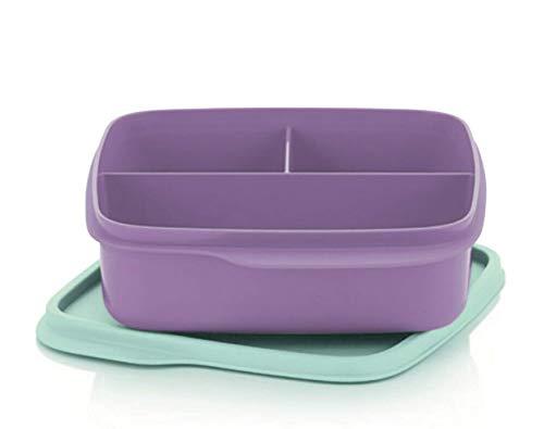 Tupperware to Go Lunchbox 550 ml Flieder lila Aqua türkis Mint mit Trennwand Clevere Pause Schule