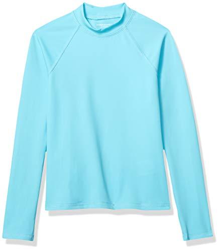 Amazon Essentials - Camiseta de manga larga de neopreno para niña, Azul (Aqua ), 104-110 cm (Talla del fabricante: XS)