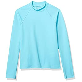 Amazon Essentials Girls' UPF 50+ Long-Sleeve Rashguard