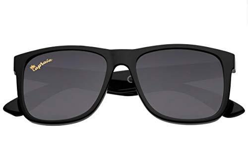 Capraia Rovello Clásicas Gafas de Sol Ultra Ligeras TR90 Montura Deportiva Lentes Polarizadas protección UV400 para Hombre (Nero)