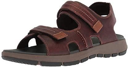 Clarks Men's Brixby Shore Sandal, Dark Brown Leather, 13 M US