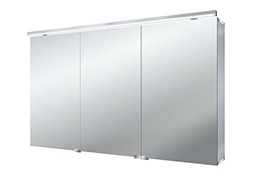 Emco asis Lichtspiegelschrank Pure 1200mm, 3 Türen, LED neutral Weiß 4000k