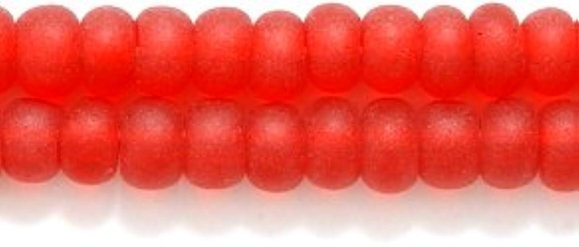 Preciosa Ornela Czech Seed Bead, Transparent Ruby Matte, Size 6/0