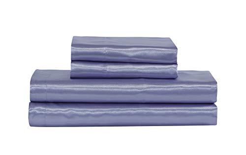 Home Collection - Juego de sábanas de satén de color sólido, muy suave al tacto, con bolsillo profundo