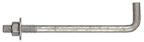 The Hillman Group 260293 5/8 x 12-Inch Anchor Bolt, 10-Pack