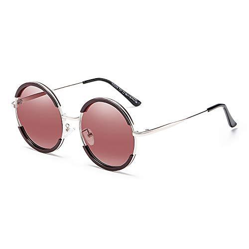 GUANGE Gafas de Sol de Moda para Mujer Retro Redondas Gafas de Sol Unisex UV400 Protección Antideslumbrante Gafas de Sol Deportivas para Hombres Mujeres Regalos,Wine Red