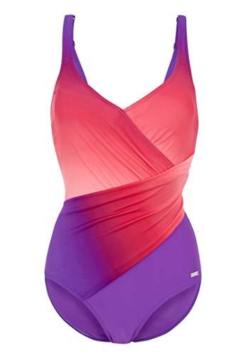 LASCANA LASCANA Badeanzug mit Farbverlauf in Wickeloptik Badeanzug mit Farbverlauf in Wickeloptik lila-pink 46 C