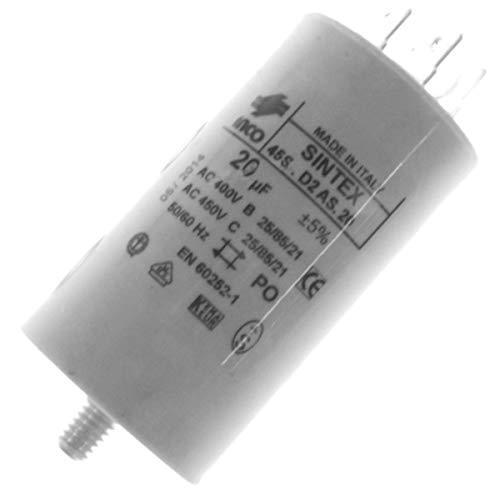 Condensateur 20MF Lave/Sèche Linge Universelle (0000368)