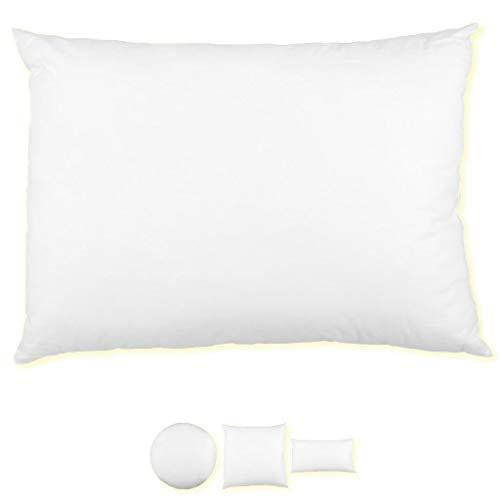 Relleno para cojín, perfecto para el sofá o la cama, ideal como decoración, poliéster, Weiß, 70 x 90 cm