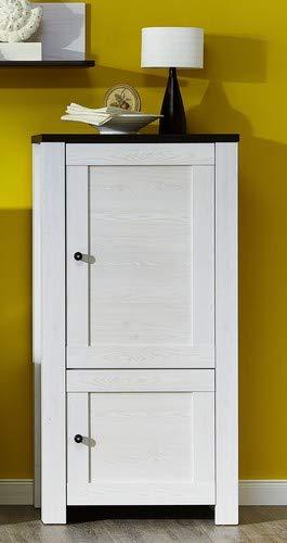 Stella Trading Antwerpen Kommode, Stauraumelement, Holz, Weiß, (B/H/T) 70 x 140 x 40 cm