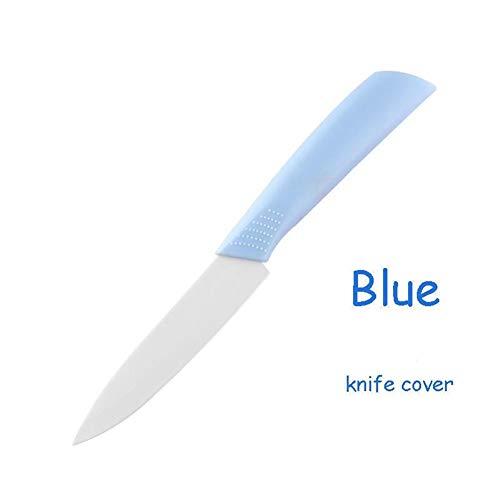 YDDM Nouveau Couteau en céramique colorée 4 Pouces en céramique poignée à éplucher Couteaux de Cuisine Accessoires de Fruits ménagers Couteau de Cuisine Outil Couteau du Chef (Color : Blue)