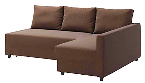 The Coffee Friheten Sleeper Thick Cotton Sofa Cover Replacement is Custom Made. It Fits IKEA Friheten Sofa Bed, Or Corner, Or Sectional Slipcover. Sofa Cover Only! (Cotton Coffee Left Arm)