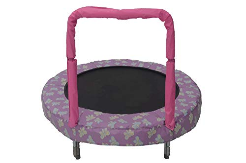 JumpKing Cama elástica Mini BouncerSchmetterling 121 cm rosa