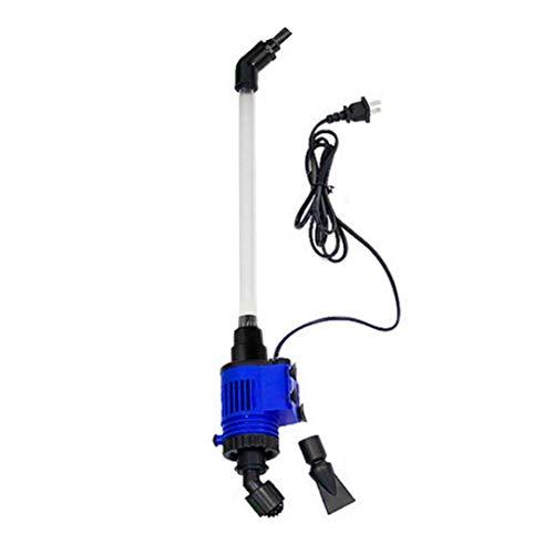 Sairis Aquarium-waterwissel, sterke zuigkracht, voor vissen, stofzuigers, pompen, elektrische sifon, stofzuiger, vistank (blauw en zwart)