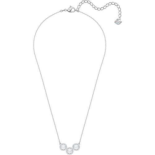 Swarovski 5465275 - Collar de trilogía con brillantes, color blanco