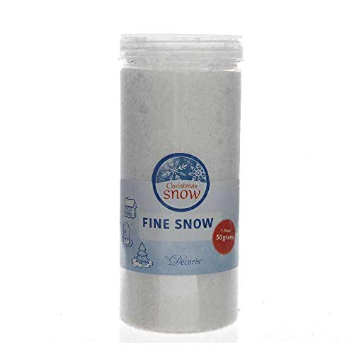 Schnee fein Kunstschnee Pulverschnee Dekoschnee Basteln Weihnachten 50 g