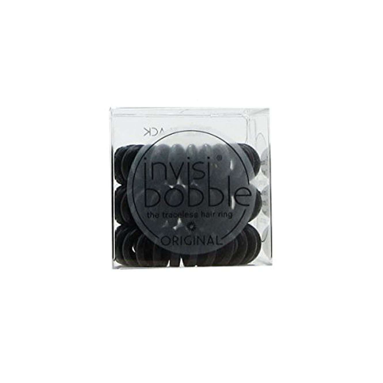 寛解飛躍改修Invisibobble Original Hair Ring True Black [並行輸入品]