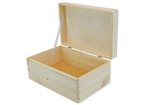 Holzbox mit Deckel (klein) - Kiefernholz naturbelassen - Truhe - Aufbewahrungsbox - Geschenkidee