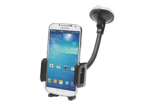 Kensington Universal Autohalterung für Smartphones an Windschutzscheibe und Lüftung, einschließlich iPhones, Android, Windows-Telefone, schwarz, K39217EU